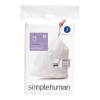 Afvalzakken code J Pasvorm liners 30-40 liter, wit