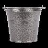 Gegalvaniseerde stalen serveeremmer gehamerd 10 cm, zilver