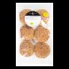 Vegan hamburgerbroodje sesam en nigella, BIO