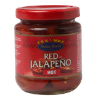 Rode jalapeño in schijfjes
