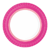 Bord  22 cm papier, bbq hot pink