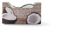 Gevulde kokosnoot met kokosijs
