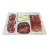 Plank met serrano ham, chorizo, salchichon en queso iberico