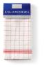 Glazendoeken halflinnen rood-wit 65 x 65 cm