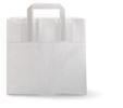 Blokbodemtas middel papier wit