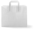 Blokbodemtas groot 32 x 18 x27cm papier wit FSC
