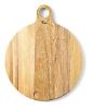 Serveerplank rond  47 cm Acacia large met handvat niet vaatwasmachinebestendig