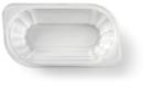 Bakje met deksel KU1 plastic wit