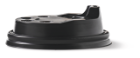 Deksel t.b.v. koffiebeker 225ml plastic zwart