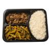 Daging rendang sajourboontjes-witte rijst