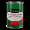 Gehakte tomaten in blokjes