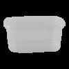 Cup rechthoekig 108 mm 250ml plastic transparant
