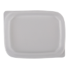 Deksel t.b.v. cups rechthoekig 108 mm transparant