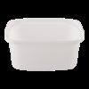 Cup rechthoekig 108 mm 250ml plastic wit
