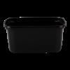 Cup rechthoekig 108 mm 250ml plastic zwart