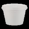 Isocontainer en deksel foam 12 cl, wit