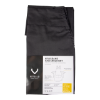 Halterschort kruisband met vierkante zak, zwart