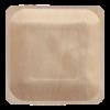 Bord hout vierkant 14x14cm FSC