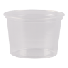 Bakje rond, transparant 100 cc,  70 mm