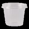 Cup met ribbel plus deksel, glashelder 125 ml