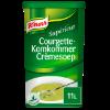 Courgette-komkommer crèmesoep