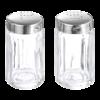Zoutstrooier glas 7 cm roestvaststalen dopje