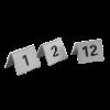Tafelnummers no. 1-12 RVS