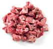 Wild zwijn stoofvlees gesneden