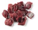 Herten stoofvlees gesneden