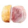 Gegaarde varkens boerenbeenham half met zout en kruiden , BL1