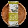 Schaal van olijfhout, laag 12 cm