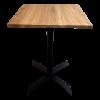 Tafel Helsinki blad hout 70x70cm