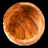 Schaal van olijfhout, laag 6 cm