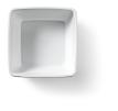 Kom vierkant 13 x 13 cm melamine, wit