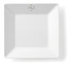 Bord vierkant 21 x 21 cm melamine, wit