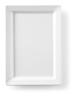 Bord rechthoek 30 x 21 cm melamine, wit