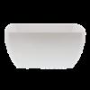 Kom vierkant 25 x 25 cm melamine, wit