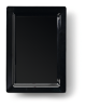 Bord rechthoek 30 x 21 cm melamine, zwart