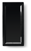 Bord rechthoek 36 x 18 cm melamine, zwart