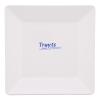 Bord vierkant 15 x 15 cm melamine, wit