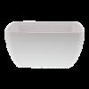 Schaal vierkant 22 x 22 cm melamine, wit