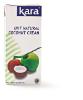Zuivere kokosroom