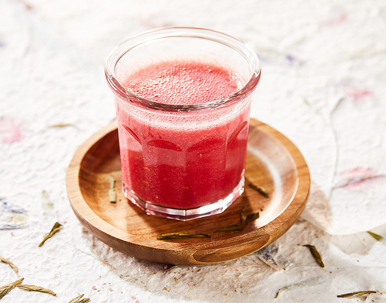 Green tea smoothie met roodfruit