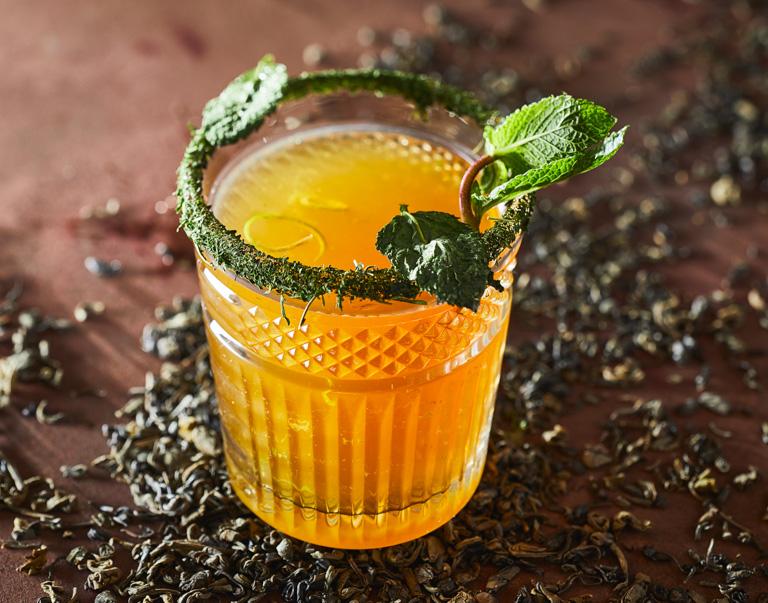 Mocktail van gin en groene thee